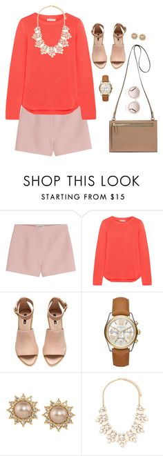 """""""Pretty little me"""" by mandy-saur ❤ liked on Polyvore featuring Valentino, Chinti and Parker, H&M, Michael Kors, Carolee, Forever 21 and Chloé"""