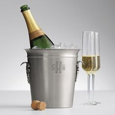 Good wedding gift- monogram chateau wine bucket