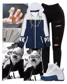 """i'm done gn ✌"" by theyloverin ❤ liked on Polyvore featuring Victoria's Secret, NIKE and Cartier"