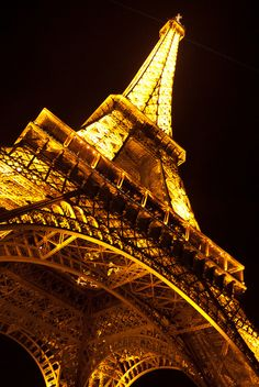 The Eiffel Tower is a spectacular sight at any time of day, but especially so at night. Ah, to visit Paris again...