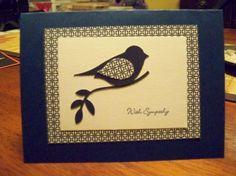 Sympathy bird punch card. Stampin' Up!