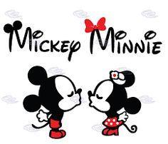6b34ddb0ac25 Mickey y Minnie kiss · Minnie Mouse ...
