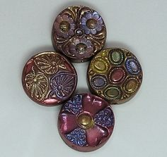 Polymer Clay Button Beads Samples | These are my favorites. | Flickr