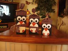 Set of 3 wooden Penguins or Snowmen 8 6 and 5 by TammisNameBlocks, $20.00