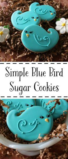 Simple Bluebird Cookies | The Bearfoot Baker