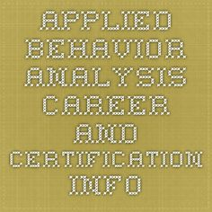 Applied behavior analysis research paper