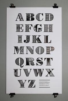Lasercut Decorative Bodoni Woodtype #typography