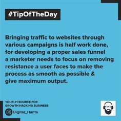 #GrowingBusiness #successfulmarketer Growth Hacking, Tip Of The Day, To Focus, Campaign, How To Remove, Success, Marketing, Digital, Business
