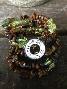 Soulful: five wrap memory wire bracelet on Etsy, $40.00