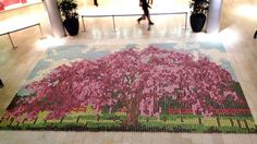 Mosaic made from 10,000 cupcakes