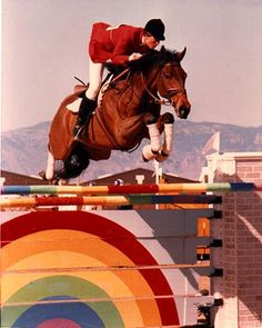 For the Moment and Lisa Jaquin. He won the AGA Horse of the Year at 21 years old!  Gotta love Thoroughbreds!