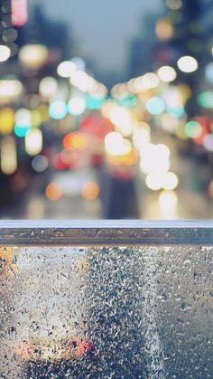 Rainy Street Window Bokeh iPhone 6 wallpaper