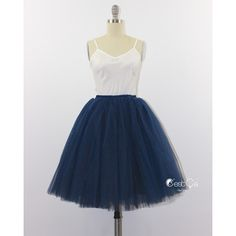 Clarisa Navy Blue Tulle Skirt 7-Layers Puffy Tutu Dark Blue Swiss... (115 AUD) ❤ liked on Polyvore featuring grey, skirts, women's clothing, stretch belt, stretchy belts, sash belt and elastic belt