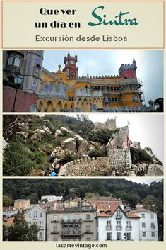 A perfect day trip from Lisbon is to the fairytale town of Sintra. In this post, we tell you the places you must visit on a day trip to Sintra from Lisbon and what to see in one day. Portugal Vacation, Hotels Portugal, Portugal Travel, Portugal Trip, Sintra Portugal, Visit Portugal, One Day Trip, Day Trips, Affordable Family Vacations