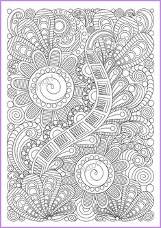 Adult coloring page zentangle by ZentangleHouse