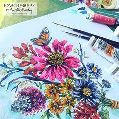 Power Poppy - The Blog: August Instant Garden Introduction: Pure Prairie Bouquet