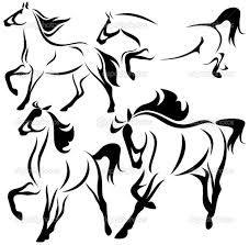 Resultado de imagem para can stock clipart cavalos
