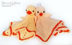 Chick and Duck Lovey Crochet Pattern