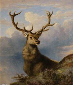 The Monarch of the Glen de James William Giles (1801-1870, United Kingdom)