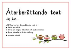 redan befintlig text i de delar som deras Teaching Genre, Learn Swedish, Swedish Language, School Posters, Reading Activities, Text Me, School Supplies, Work Hard, Back To School