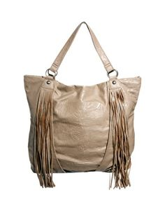 Fringed tote in a neutral colour & style - will go with almost anything