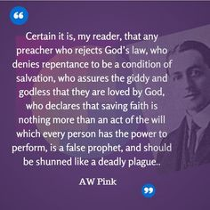 """A.W. Pink (1886-1952) After Pink's death, his works were republished by the Banner of Truth Trust and reached a much wider audience as a result. Biographer Iain Murray observes of Pink, """"the widespread circulation of his writings after his death made him one of the most influential evangelical authors in the second half of the twentieth century."""" His writing sparked a revival of expository preaching and focused readers' hearts on biblical living."""