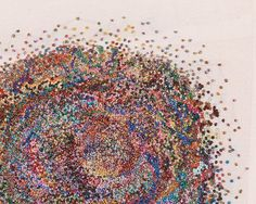 Ten Thousand French Knots, 2010 (detail) by Jeana Eve Klein Cotton, 10,000 hand-stitched French Knots. (Photo by Jenna Eve Klein)