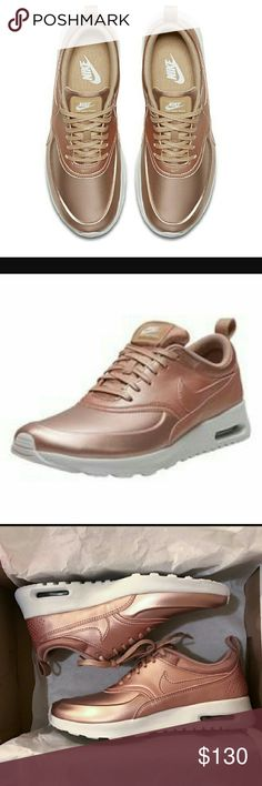 Metallic nike air max thea SE Brand new in box, never worn, Nike Air max thea in rose gold Nike Shoes Athletic Shoes