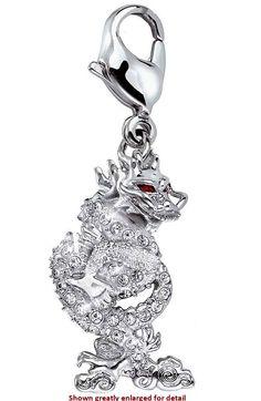 Swarovski Year of the Dragon SCS 2012 Crystal Charm.  Swarovski Crystal Figurine.