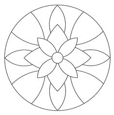 Instead of a mandala this would be a great stained glass pattern. Mandala Drawing, Mandala Art, Mandala Towel, Simple Mandala, Mandala Coloring Pages, Colouring Pages, Stained Glass Patterns, Mosaic Patterns, Cd Crafts