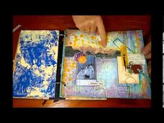 Here is view of another Collage Art Journal of mine in an altered book. For details on each page please visit my FB page Ina's Art Room. Thank you