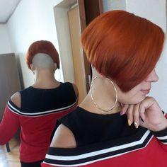 Nape Undercut, Shaved Undercut, Undercut Long Hair, Shaved Nape, Edgy Short Hair, Short Hair Cuts, Shot Hair Styles, Long Hair Styles, Sexy Bob Haircut