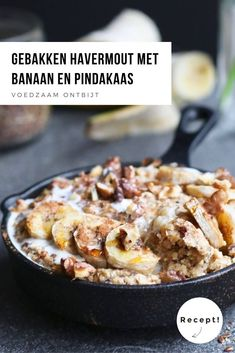 Baked oatmeal with banana and peanut butter - Beaufood Quick Healthy Meals, Healthy Food Choices, Healthy Recipes, Healthy Diners, Carb Free Recipes, Sports Food, Good Food, Yummy Food, Go For It