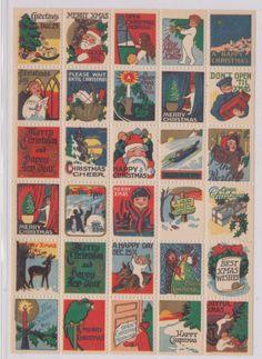 1920's Vintage Santa Claus Christmas Poster Stamps | eBay