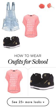 """""""School time!!!!"""" by nienxx on Polyvore featuring H&M, Replace, DC Shoes and Bamboo"""