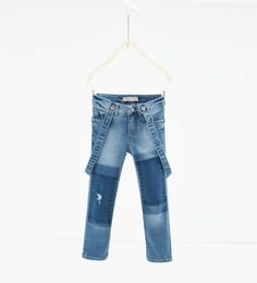 Girls/' Slim Fit Pearls Jeans Dark Blue Denim Washed Pants Trousers Age 4-14 Yrs