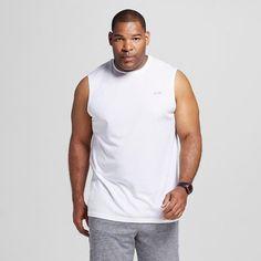 9853f7e3 C9 Champion Men's Big & Tall Tech Sleeveless Shirt True White MT 2XLT 3XLT  New