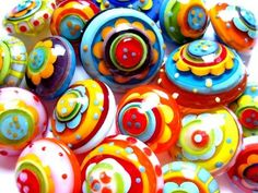 lampworked glass beads by Carla Di Francesco