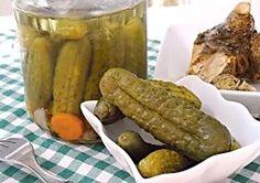 Křupavé Bzenecké okurky Preserves, Pickles, Cucumber, Sausage, Homemade, Canning, Meat, Food, Preserve