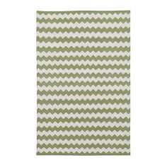 Green Zig Zag Cotton Carpet