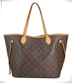 e6a1f3e3924b Pre-owned Louis Vuitton Monogram Canvas Neverfull MM Shopping Tote Bag