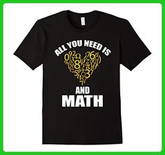 Mens All You Need Is Love And Math Shirt XL Black - Math science and geek shirts (*Amazon Partner-Link)