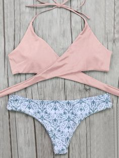 CLICK THIS LINK FOR $50 CREDIT TO ZAFUL | Wrap Bikini Top And Baroque Bottoms - PinkFor Fashion Lovers only:80,000+ Items • New Arrivals Daily Join Zaful: Get YOUR $50 NOW!
