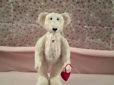 Hey, I found this really awesome Etsy listing at https://www.etsy.com/listing/176277294/valentine-bachelor-mohair-bear