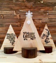 Christmas Wood Trees-Burnt (Set of Christmas Wood Crafts, Merry Christmas, Christmas Decorations, Wood Tree, Christmas Shopping, Design Crafts, Triangle, Creative, Handmade