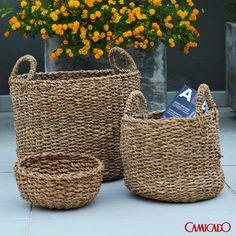 Tenha cestos e potes para organizar a sua rotina e colocar tudo no lugar.