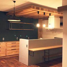 Kitchen/黒板/ペンダントライト/珪藻土/カップボード/黒板塗料...などのインテリア実例 - 2017-10-13 13:05:35