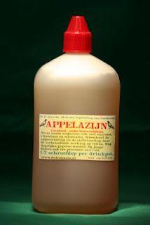 Appelazijn + huid + zwarte punten Appelazijn is goed voor de huid: Appelazijn kan ook goed helpen tegen huidproblemen. Het neutraliseert de PH waarde van de huid en kan tegen een hoop huidkwaaltjes en klachten werken. Je kunt de appelazijn met een wattenschijfje op de huid deppen, maar je kunt er ook voor kiezen om het te mengen met een lotion. Appelazijn op de huid werkt onder andere goed tegen puistjes, eczeem, een droge huid, een vette en tegen een droge huid.