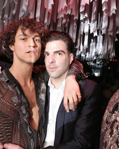Miles McMillan & Zachary Quinto at The Weeknd & Naomi Campbell hosed After Met Gala party