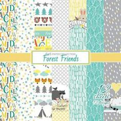 """Forest Friends 6""""*6"""""""